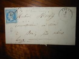 Lettre GC 4001 Toury Eure Et Loir Avec Correspondance - 1849-1876: Période Classique