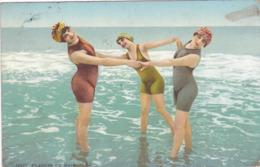 CPA 62 @ BOULOGNE SUR MER - Plaisirs Du Bain En 1913 - 3 Femmes En Maillot - Boulogne Sur Mer