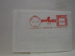 LAINATE   -- MILANO     ---  ANNULLO ROSSO  ---     PERFETTI  S.P.A.    --  L. 160 - Affrancature Meccaniche Rosse (EMA)