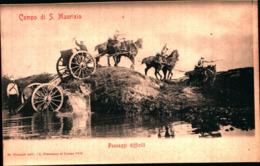 7413) CARTOLINA -MILITARI-CAMPO DI SAN MAURIZIO-PASSAGGI DIFFICILI-NUOVA - Manovre