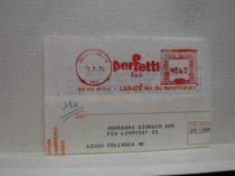 LAINATE   -- MILANO     ---  ANNULLO ROSSO  ---     PERFETTI  S.P.A.    --  L. 040 - Affrancature Meccaniche Rosse (EMA)