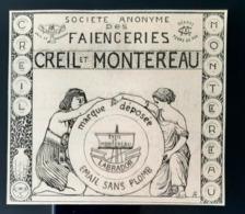 1918 CREIL Et MONTEREAU FAIENCERIES EMAIL SANS PLOMB LABRADOR PUBLICITE ANCIENNE PARIS ANTIQUE AD EARTHENWARE - Advertising