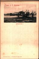 7415) CARTOLINA -MILITARI-CAMPO DI SAN MAURIZIO-BATTERIA DA 9-NUOVA - Manovre