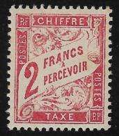 FRANCIA -1893 - PACCHI POSTALI - Valore Nuovo Stl Da 2 F. Rosso Arancio Con Valore In Cartiglio - In Buone Condizioni. - Colis Postaux