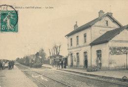 AP 189 /  C P A -   LE MESLE-SUR -SARTHE  (61)   LA GARE - Le Mêle-sur-Sarthe