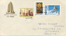 Romania Cover Sent To Belgium 4-2-2004 Topic Stamps Including BIG CAT - 1948-.... Republics
