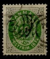 Danemark (1870) N 20 (o) Aminci - Usati