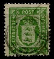 Danemark (1871) Timbres Service N 3 (o) - Usati