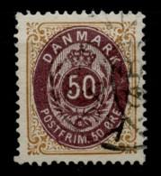 Danemark (1875) N 28 (o) - Usati