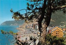 Cartolina Deiva Marina Spiaggia Dall'alto 1972 - Imperia