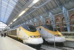 High-speed Trains - Eurostar Paris-Londres Postcard Collector - Trenes
