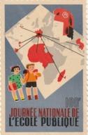 Rare Grande Vignette Journée Nationale De L'école Publique - Erinnophilie