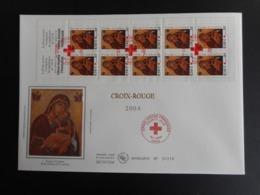FDC Grand Format - Carnet Croix Rouge 2004, Oblitération 10/11/2004 - FDC