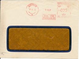 Sweden Cover With Meter Cancel Stockholm 7-5-1935 (Box 1059 Stockholm 16) - Lettres & Documents
