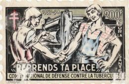 Rare Grande Vignette  Journée National Antituberculeux - Antitubercolosi