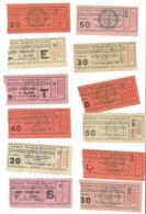Per Iniziare Una Collezione  Di Biglietti Tram Bus ATAG Roma. Selezione Di 12 Biglietti Fine Anni 30 Tipografia BERTELLO - Tranvías
