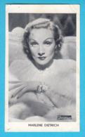 RRRRRR ..... MARLENE DIETRICH .... 1930's Yugoslavian Kingdom Original Vintage Mirim Chocolate Card * German-Usa Actress - Cinema & Film