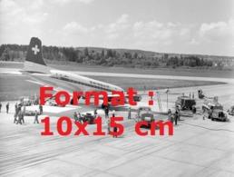 Reproduction Photographie Ancienne De L'atterrissage Catastrophe Sur Le Ventre D'un Avion De La Compagnie Swissair - Riproduzioni
