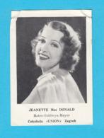 RRRRRR ..... Jeanette MacDonald .... 1930's Yugoslavian Kingdom Original Vintage Union Chocolate Card * American Actress - Cinema & Film