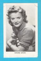 RRRRRR ..... SIMONE SIMON .... 1930's Yugoslavian Kingdom Original Vintage Mirim Chocolate Card * French Actress France - Cinema & Film