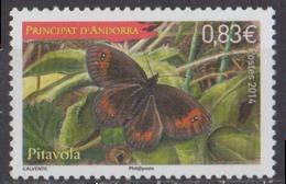 ANDORRE - Papillons 2014 - Andorra Francesa