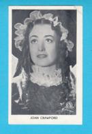 RRRRRR ... JOAN CRAWFORD ... 1930's Yugoslavian Kingdom Original Vintage Mirim Chocolate Card * American Actress France - Cinema & Film