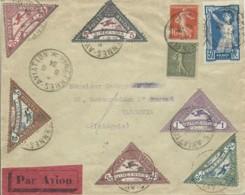 1924 VINCENNES Meeting Série Sur Lettre Au Verso étiquette Bayard - Indochina (1889-1945)