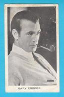 RRRRRR ... GARY COOPER ... 1930's Yugoslavian Kingdom Original Vintage Mirim Chocolate Card * American Actor USA - Cinema & Film