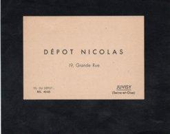 Vin NICOLAS - Carte De Commande - DEPOT NICOLAS (JUVISY) - Carte Vierge Non Utilisée - Pubblicitari