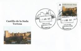 SPAIN. POSTMARK SUDA CASTLE. TORTOSA 2017 - España