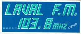 Rare Autocollant Radio FM Laval FM - Autocollants