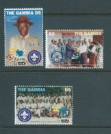 Gambia 1995 Boy Scout Rotary Set 3 MNH - Gambia (1965-...)