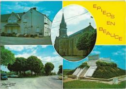 D45 - EPIEDS EN BEAUCE - LA MAIRIE-L'EGLISE-LA CROIX PIGNARD-LE MONUMENT AUX MORTS-CPSM Multivues Grand Format - France