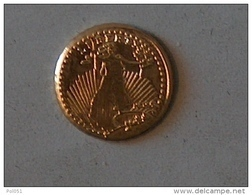 MINI OR GOLD Etats Unis USA Dollars Saint Gaudens 1907 - Stati Uniti