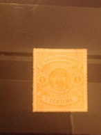 Luxembourg 1867 1c Orange Mint No Gum SG 21 Yv 16b - 1859-1880 Stemmi