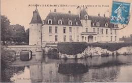 AUGERVILLE LA RIVIERE          LE CHATEAU ET LES FOSSES - France