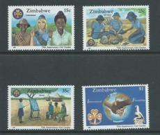 Zimbabwe 1987 Girl Guide Anniversary Set Of 4 MNH - Zimbabwe (1980-...)