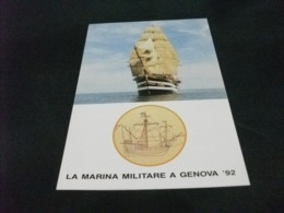 STORIA POSTALE  FRANCOBOLLO GENOVA 92  ITALIA VELIERO VESPUCCI GIORNATA MARINA - Velieri