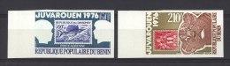 Benin  -  Avion  -  1976  :  Yv  254-55  **  Non Dentelé , Timbre Sur Timbre - Benin – Dahomey (1960-...)