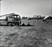 Rare Négatif 4.5 X 4.5 Cm Camion Citerne Hélicoptère Et Avion - Cars