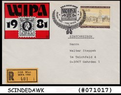 AUSTRIA - 1981 WIPA STAMPS EXHIBITION SPECIAL COVER WITH SPECIAL CANCL. REG - Austria
