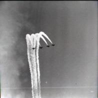 Rare Négatif 6 X 6 Cm Patrouille Aérienne Années 50-60 - Aviation