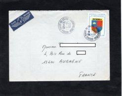 LSC 1990 - Cachet NOUMEA VALLEE DES COLONS  Sur  YT 257 - Cartas