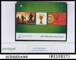 PORTUGAL - 2014 FIFA WORLD CUP BRAZIL / FOOTBALL / SOCCER Min. Sheet MNH - Soccer