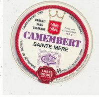 W 114 / ETIQUETTE  FROMAGE  CAMEMBERT SAINTE MERE  EGLISE LABEL ROUGE    (MANCHE) - Formaggio