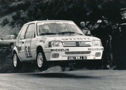 """Peugeot 205 Rallye Groupe A """"Ville De Grasse"""" Photos Format 18 X 13 Cm Env. - Cars"""