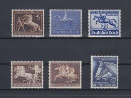 Deutsches Reich 1938 Braunes / Blaues  Band Lot 6 Bessere Werte Ungebraucht * - Germania