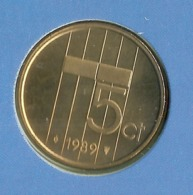 1989 * 5 Cent  Uit FDC-SET  * NEDERLAND * - [ 3] 1815-…: Königreich Der Niederlande