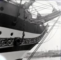 Rare Négatif 6 X 6 Cm  Proue De Bateau à Voiles - Boats