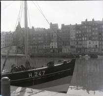 Rare Négatif 6 X 6 Cm  Bateau De Pêche Port De Honfleur - Boats